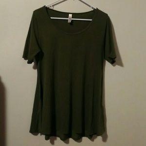 LuLaRoe Olive Green Top